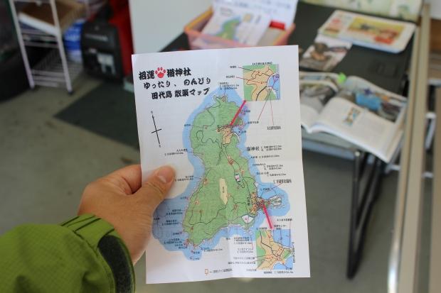 網地島ラインでもらえる田代島マップ|猫島(猫の島)で有名な『田代島』を中心に巡る1泊2日石巻離島の旅