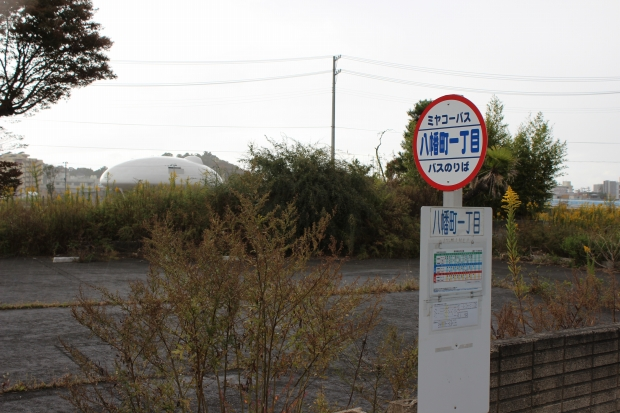 八幡町一丁目のバス停|猫島(猫の島)で有名な『田代島』を中心に巡る1泊2日石巻離島の旅