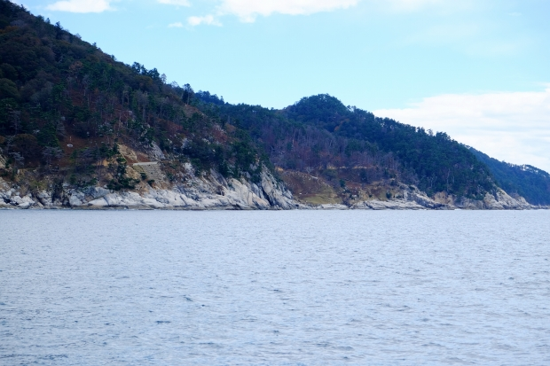 牡鹿半島の楽しみ方その3「金華山のボルダリング」の風景